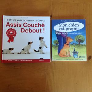 2 livres pour dresser son chien.