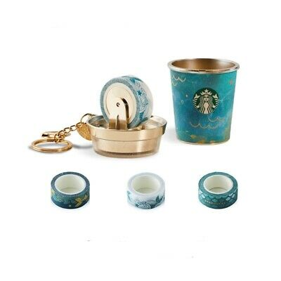 Starbucks Summer Siren Tail Tape Cup Keychain 2019 China No Card