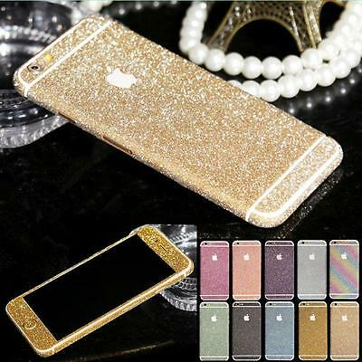 FULL BODY GLITTER BLING STICKER SKIN CASE COVER for iPHONE SE 5 5S 5C 6 6S Plus