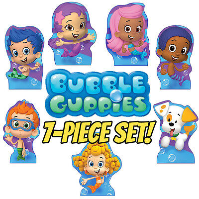 BUBBLE GUPPIES 7-Piece Set CARDBOARD CUTOUT Standups Standees Posters FREE SHIP