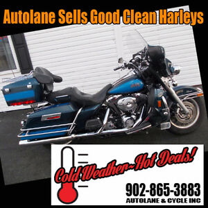 2004 Harley Davidson Electra Glide Classic Two Tone $9995