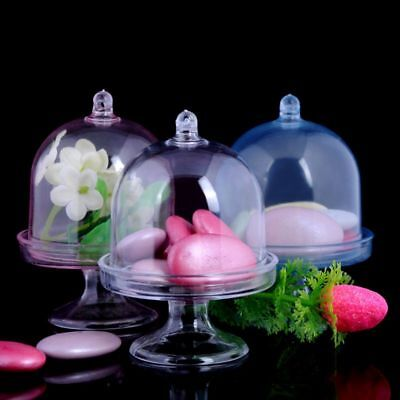 Mini Cupcake Box (Mini Cake Stand Cupcake Box Wedding Favor Party Plastic Candy Box Transparent)
