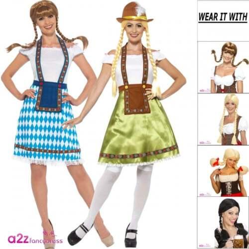 Adult Ladies Oktobermiss Bavarian German Bar Maid Oktoberfest Wench Fancy Dress