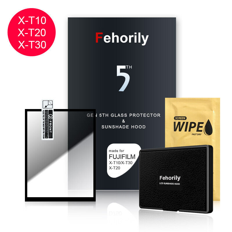 Fehorily Gen 5TH Glass Protector & Sunshade Hood For Fujifilm X-T10 XT20 X-T30