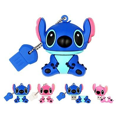 Cartoon Cute Stitch model USB 2.0 Memory Stick Flash pen Drive 4GB-32GB USB254