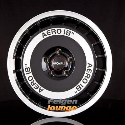 4 Alufelgen RONAL R50 AERO Schwarz Frontkopiert 8x18 ET35 5x112 ML76 NEU