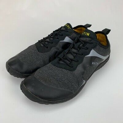 Whitin Mens Athletic Shoes Black Gray Lace Up Low Top Sneakers 9 M EUR 43