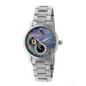 NEW Empress EM1202 Women's Automatic Jeweled St. Steel Watch