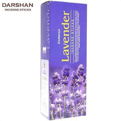 LAVENDER von DARSHAN 6x 20 Räucher-Stäbchen BIG PACK Original Indien Incense
