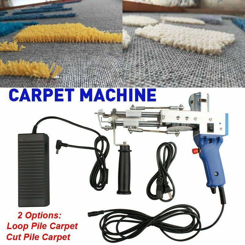 Electric Carpet Tufting Gun Loop Pile Cut Pile Carpet Weaving Machine 10000r/min