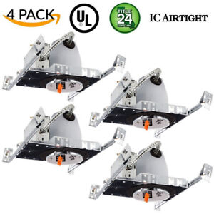 """Sunco Lighting 4 Pack 4"""" inch New Construction LED Can Air Tight"""