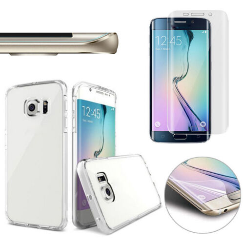 clear slim case amp full cover screen protector film for samsung ebay