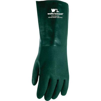 Wells Lamont Mens Indooroutdoor Pvc Chemical Gloves Green L