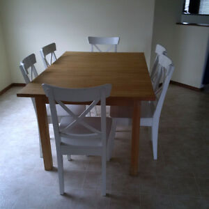 Butcher Block Kitchen Dining Table- seats up to 8