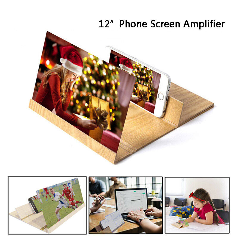 3D Folding Enlarge Screen Magnifier Amplifier Mobile Phone HD Stand Universal Cell Phone Accessories