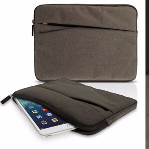 iGadgitz Grey Canvas Fabric Sleeve Pouch Case 10.1 inch