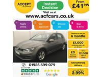 2015 GREY VW GOLF 1.6 TDI 105 MATCH DIESEL MAN 5DR HATCH CAR FINANCE FR £41 PW