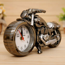 Novelty Motorcycle  Shaped Digital Alarm Clock Home Desk Table Office Decor