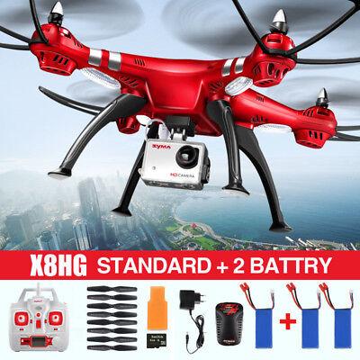 Syma X8HG RC Drone 8MP HD Camera Video Headless Altitude Hold Quadcopter Hover
