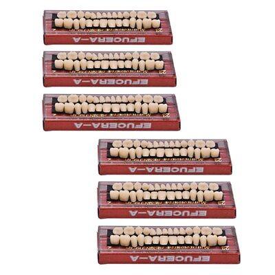 168pc 6set Dental Denture Acrylic Resin Full Set Teeth Upper Lower Shade 23 A2