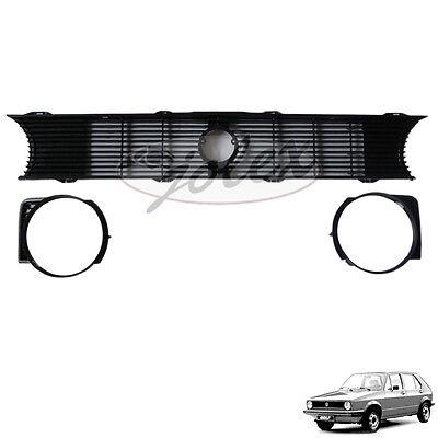 B-Ware Kühlergrill Kühlergitter Scheinwerferring R+L VW Golf 1 17 Cabrio 155 NEU