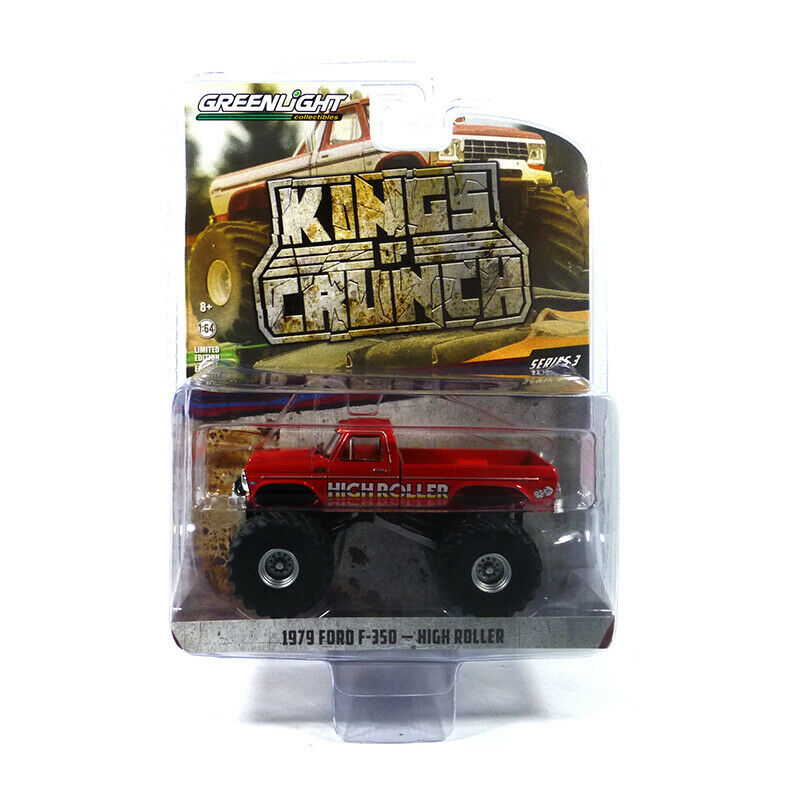 Greenlight 49030 Ford F-350 High Roller Red - Kings Of Crunch Scale 1:64 New °