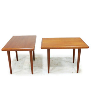 Mid Century Modern Teak Side Tables Made in Denmark