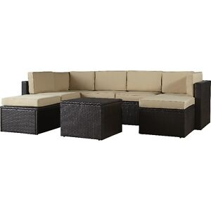 CROSLEY wicker 8 Piece Seating Group with Cushions