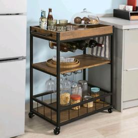 Kitchen trolley / serving cart / butcher's block