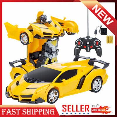 Kids Toy Transformer RC Robot Sports Car Remote Control Car Best Kids Baby
