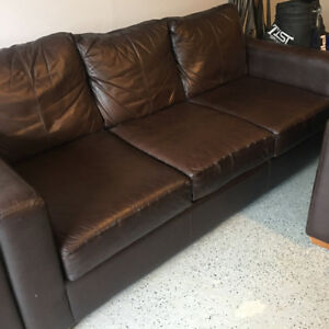 3 piece brown contemporary couch set