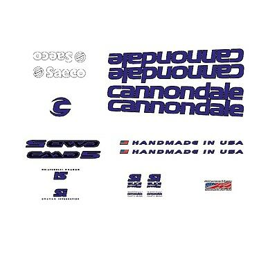 Yellow n.7 Transfers Stickers Cannondale CAAD5 Bicycle Decals