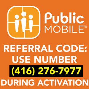 PUBLIC MOBILE REFERRAL CODE