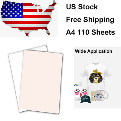 A4 110 Sublimation Sheets Sublimation Printing Paper Transfer Paper For T-shirt