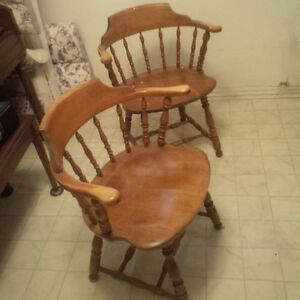 Two Captain Chairs for $45.00 Very comfortable - cottage ready