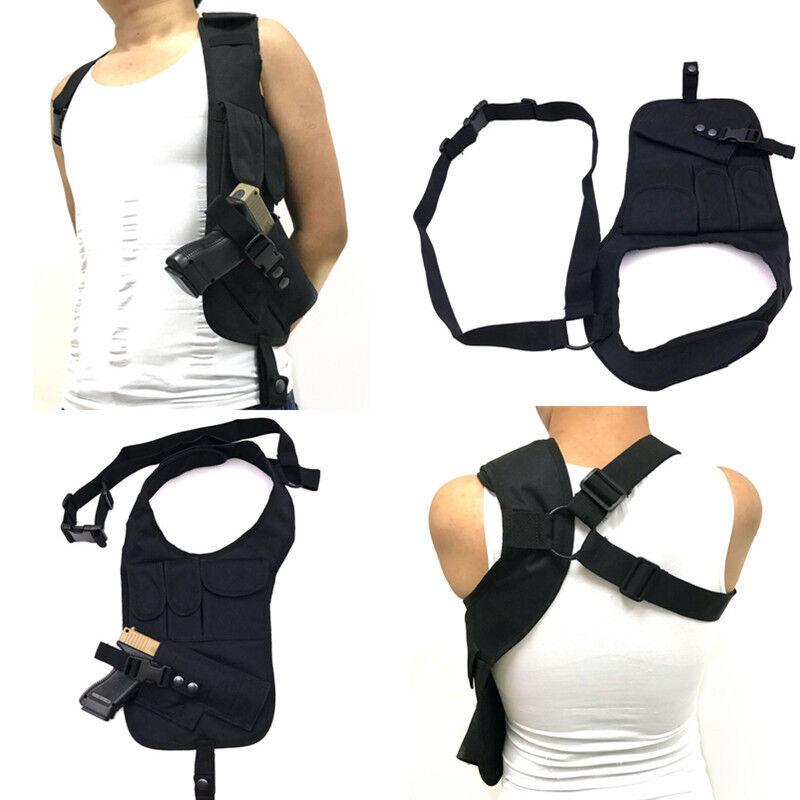 Tactical Hidden Underarm gun Holster&Pouch Bag for Pistol Co