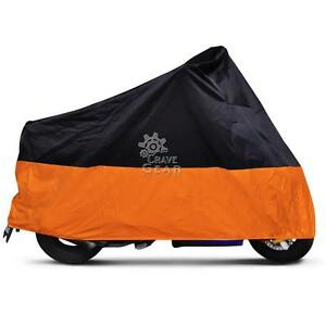 XXL Orange Motorcycle Cover For Yamaha Road Star Silverado Midnight Warrior 1700