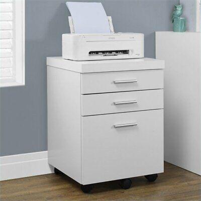 Atlin Designs 3 Drawer File Cabinet In White