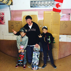 Skateboard lessons for all ages and skill levels...