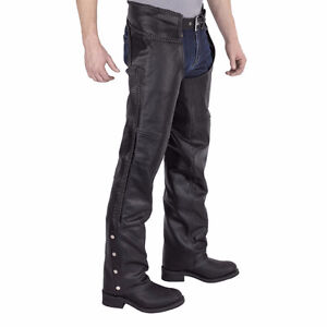 Leather Braided Motorcycle Chaps