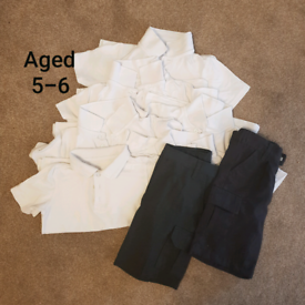 Aged 5-6 years. 6 x polos 2 X shorts