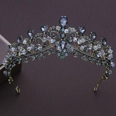 Tiara Cristal Estrás Boda Concursos de Belleza Banda Novia Pearl Corona Cabello