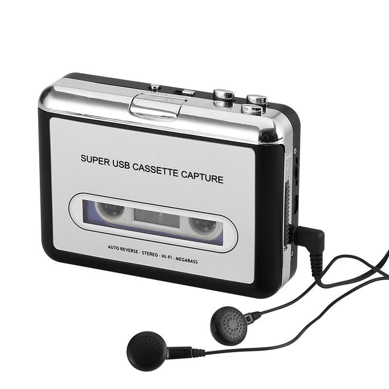 Cassette Tape-to-MP3 Converter - Plug and Play, Win + Mac Co