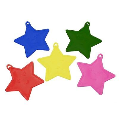 Weights For Helium Balloons (Star Shaped Plastic Balloon Weights for Helium or Foil Balloons Various)