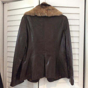 Danier fitted leather jacket Cambridge Kitchener Area image 3