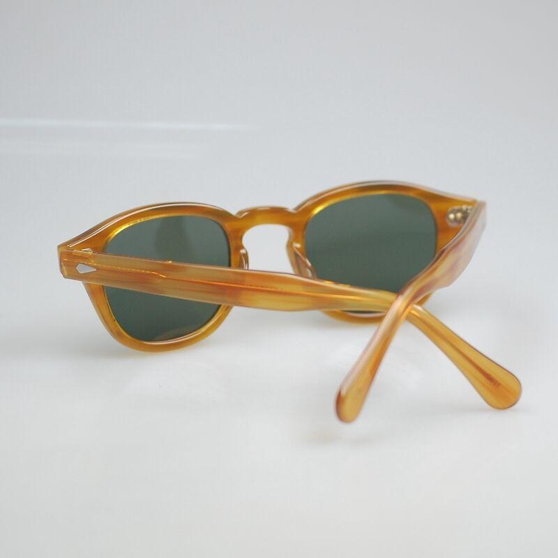 9cc48804fa ... Retro Depp polarized sunglasses mens artists Blonde glasses G15 gray green  lens