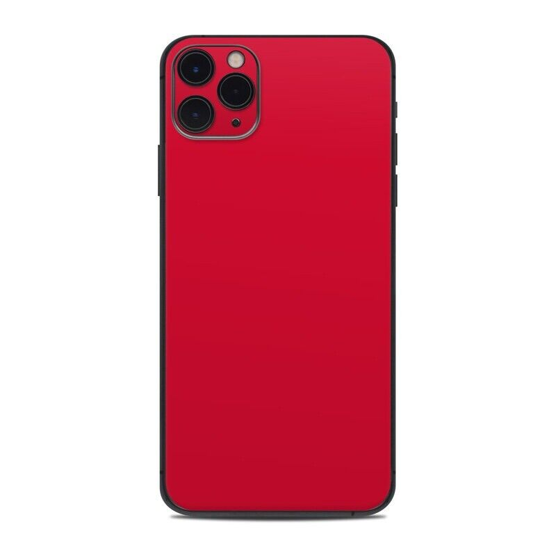 iPhone 11 Pro Max Skin - Solid Red - Sticker Decal
