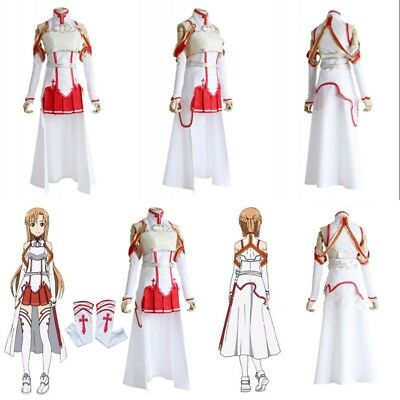 Sword Art Online Asuna Yuuki Dress Cosplay Costume Halloween Carnival Christmas