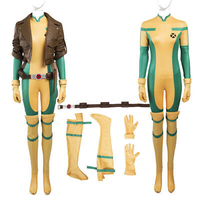 ogue Anna Marie Cosplay Costume Halloween Outfits Any Size (Rogue X Men Kostüm)