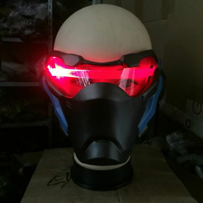 2017 Overwatch Soldier 76 Led Luminous Mask Cosplay Helmet Halloween Party Gift